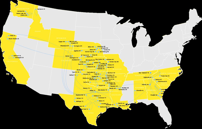 Vyve Backbone carrier map